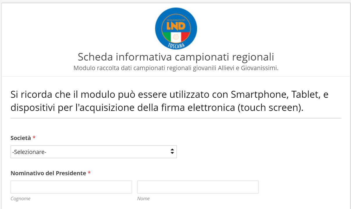 Calendario Allievi Lega Pro.Scheda Informativa Campionati Regionali Giovanili 2019 2020
